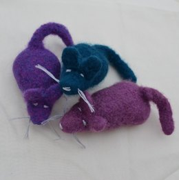 Felted Mouse Cat Toy