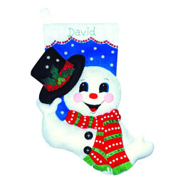 Design Works Snowman with Hat Sewing Kit