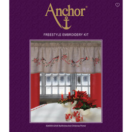 Anchor Bullfinches and Xmas Pelmet Freestyle Embroidery Kit