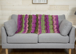 Chevron Bliss Throw in Premier Yarns Serenity Chunky Big Ombre - Downloadable PDF