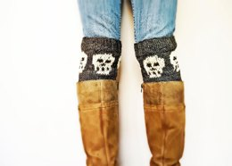 Snuggly Skull Boot Cuffs