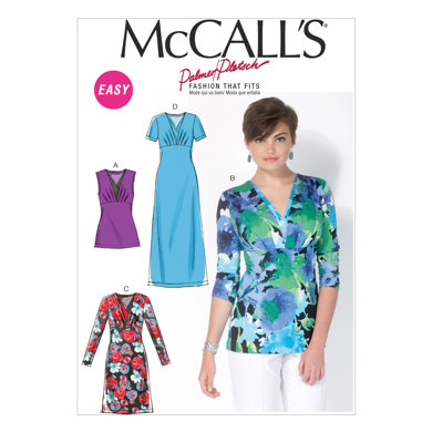 McCall's Misses' Tops and Dresses M7092 - Sewing Pattern