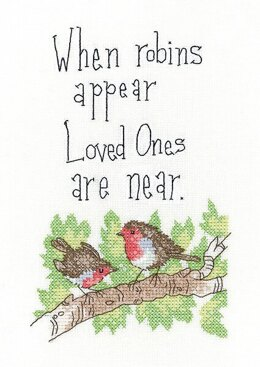 Heritage When Robins Appear Cross Stitch Aida Kit