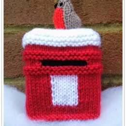 Winter Post Box & Robin - Chocolate Orange Cover