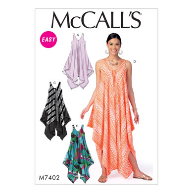 McCall's Misses' Dresses and Jumpsuit M7402 - Sewing Pattern