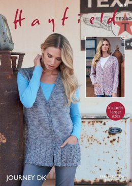 8681baa3f319ba Cardigan   Waistcoat in Hayfield Journey DK - 8191 - Downloadable PDF