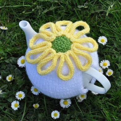Camomile Daisy Tea Cozy Pattern Rustic Kitchen Decor