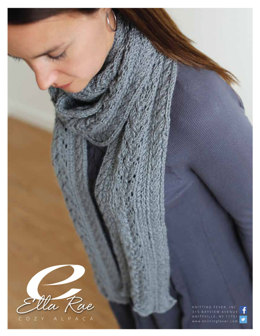 Cable Scarf in Ella Rae Cozy Alpaca - ER11-01 - Downloadable PDF