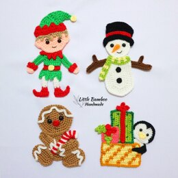Joyful Christmas Applique Set