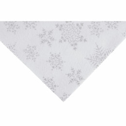 Trimits Glitter Felt Sheet White