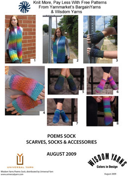 Scarves, Socks & Accessories in Wisdom Yarns Poems