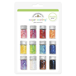 Doodlebug Sugar Coating Chunky Glitter Assortment 5g 12/Pkg - Assorted