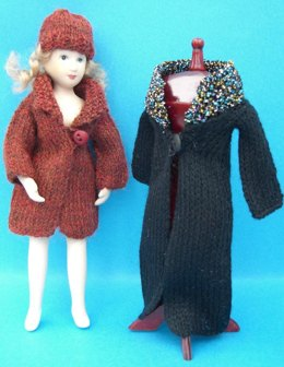 HMC24 Coats and hat for a doll in the dolls house