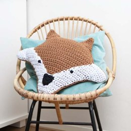 Foxy Cushion in Hoooked RibbonXL