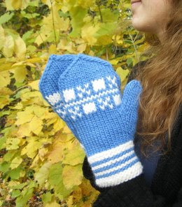 Latvian Boxes Mittens