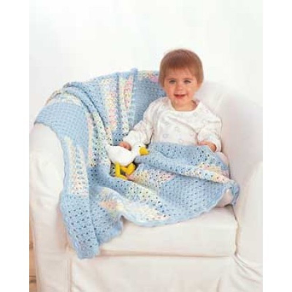 Crochet Baby Blanket In Bernat Cotton Baby Solids And
