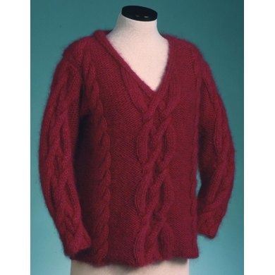 V-Neck Cable Pullover #124
