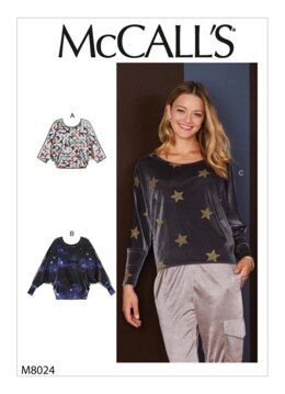 McCall's Misses' Tops M8024 - Sewing Pattern