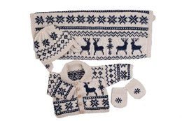 Nordic Knitted Pram Set