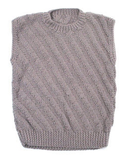 Light Wave Sweater Vest in Caledon Hills Chunky Wool