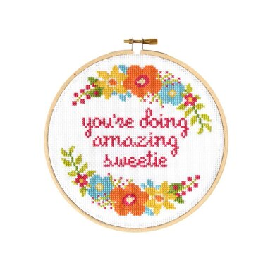 The Stranded Stitch Sweetie Cross Stitch Kit - 6 inches