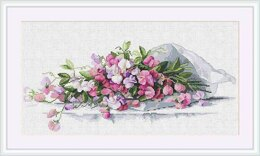 Merejka Sweet Pea Cross Stitch Kit - 39cm x 20cm