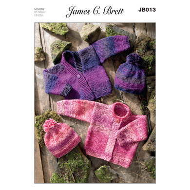 Hat and Cardigans in James C. Brett Marble Chunky - JB013