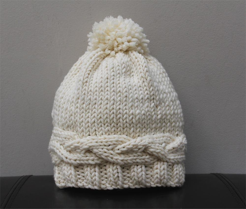 Adult knitted hat pattern