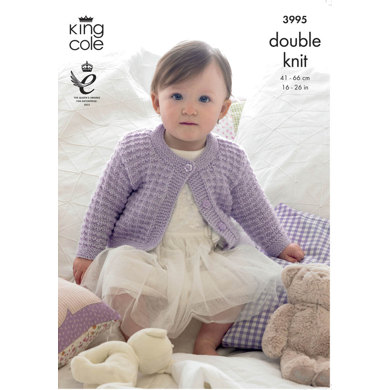 Children's Cardigan in King Cole Baby Glitz DK - 3995