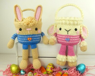 Rabbit and Lamb Easter Baskets