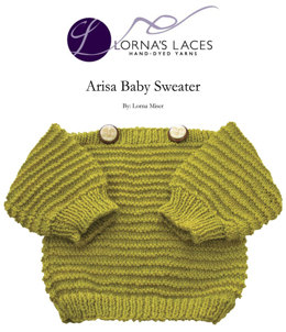 Arisa Baby Sweater in Lorna's Laces Shepherd Sport