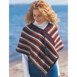 Easy Rustic Stripes Poncho in Patons Shetland Chunky