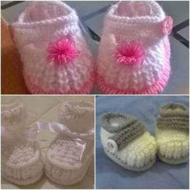 Tuck edge shoes double edge tuck booties. Boys cuffed Booties 0-3mths