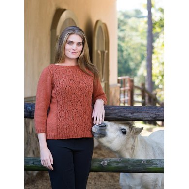 Top Down Cable And Lace Boatneck Pullover 191 Knitting Pattern By