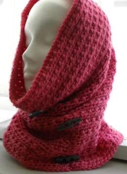 Cowl Hood with Decorator Buttons