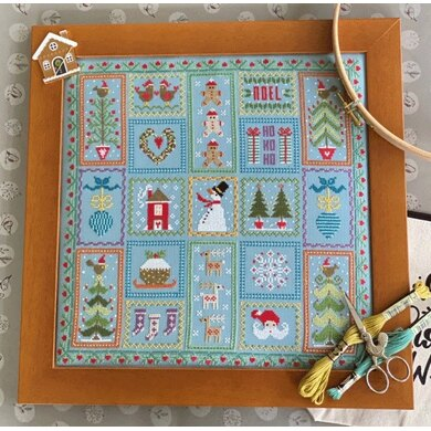 Historical Sampler Company Snowman Cross Stitch Kit
