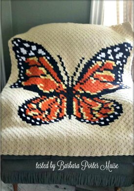 Monarch Butterfly Afghan