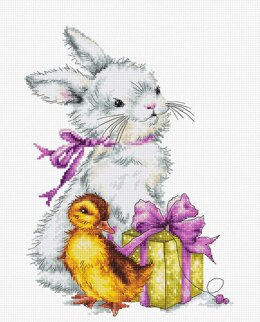 Luca-S Rabbit and Duckling Cross Stitch Kit
