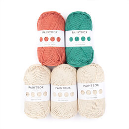 Paintbox Yarns Mollie The Bunny - Paintbox Yarns Cotton Aran 5er Farbset