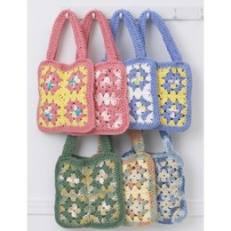 Granny Square Bags in Lily Sugar 'n Cream Solids