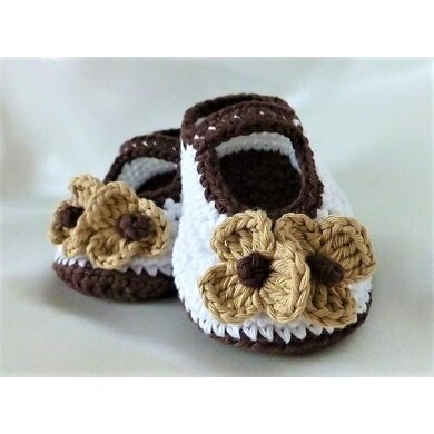 Crocheted Baby Girls Shoes Booties