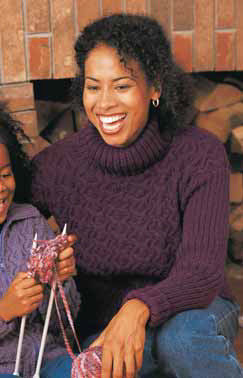 Cables And Ribs Sweater in Patons Astra
