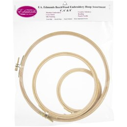 Frank A. Edmunds Beechwood Embroidery Hoop Set 3/Pkg 4in, 6in & 8in