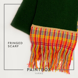 Fun Fringed Scarf in Paintbox Yarns 100% Wool Worsted - Downloadable PDF