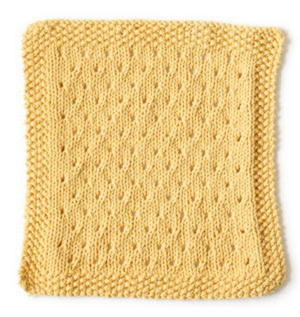 Orient Point Washcloth in Lion Brand Cotton-Ease - 90385 Knitting Patterns ...