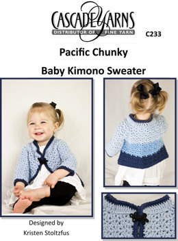 Baby Kimono Sweater in Cascade Pacific Chunky - C233