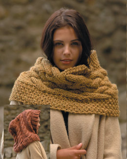 Hooded Snood and Cowl in Wendy Serenity Super Chunky - 5750