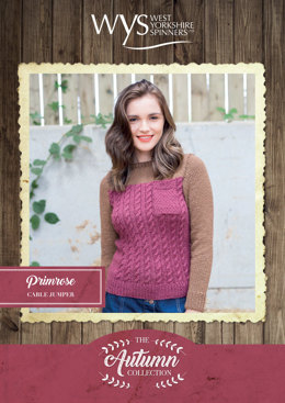 Primrose Sweater in West Yorkshire Spinners Bluefaced Leicester Solids Aran - Downloadable PDF