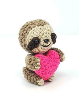Valentine the Sloth Amigurumi