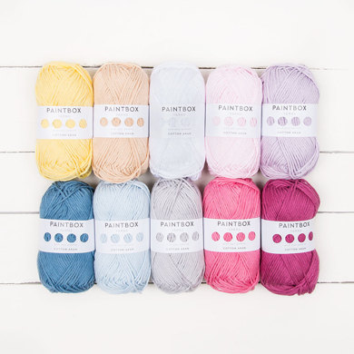 Paintbox Yarns Cotton Aran 10 Ball Color Pack